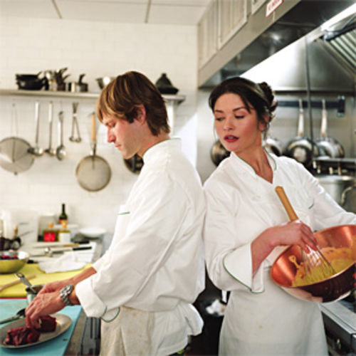 Eckhart and Zeta-Jones: Stovetop romance