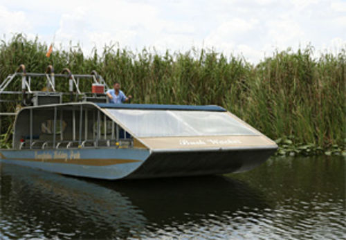 The Bridges have 14 airboats like this one, but the family business depends on Everglades Holiday Park.