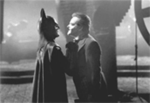 Michael Keaton (left) and Jack Nicholson in Batman