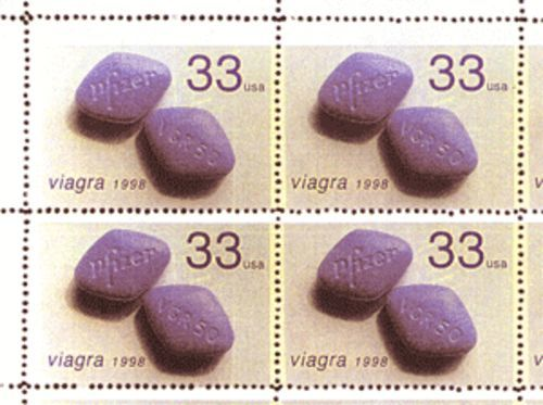 Michael Hernandez de Luna's Viagra stamps. All the artists have lawyers.