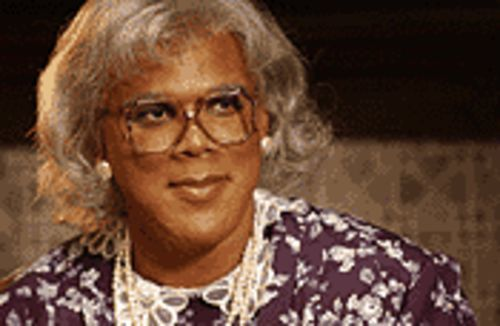 Tyler Perry, less feminine than Martin Lawrence