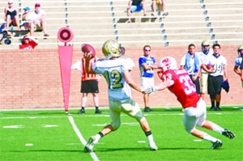 Quarterback Zach Green faced constant pressure from Katy defenders.