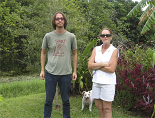 Brian Sprinkle (left) and Tami Freeman are fighting to save this wooded parcel.