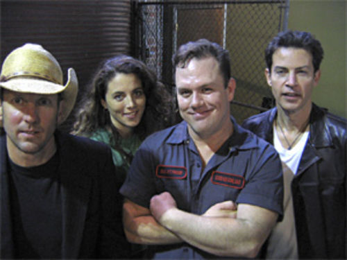 Cowboy Mouth: Yes, that's Vance Degeneres on the right.