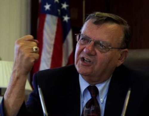 Napolitano teamed up with loose cannon Sheriff Joe Arpaio.