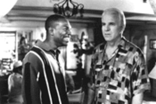 A kinder, gentler, nerdier Eddie Murphy (left) steals the show from Steve Martin