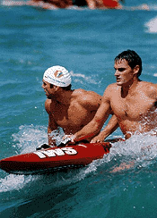 Hunky firefighters and lifeguards -- yum!