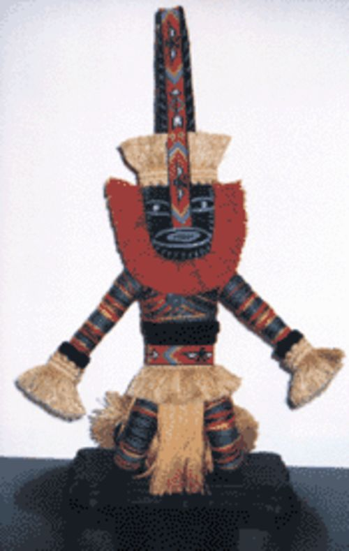 An African wrap doll like the ones students can make at the Crest Theatre