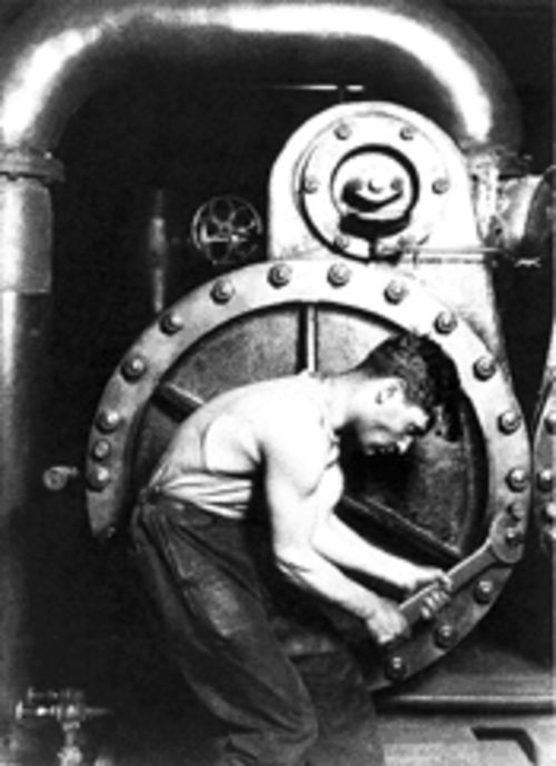 Lewis Hine's Steamfitter (1920) stands out in this show