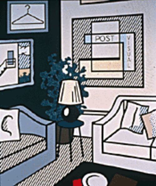 Roy Lichtenstein's Post Visual (1993) comments on modern life