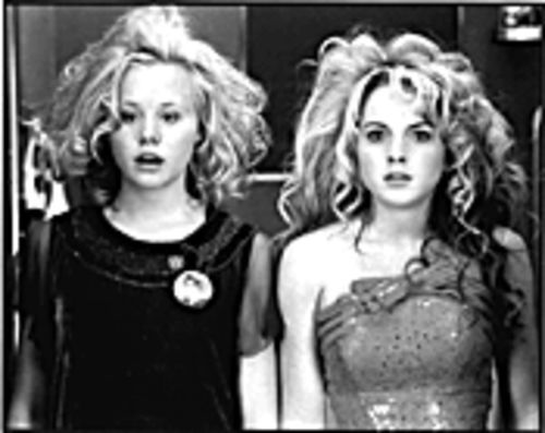 Lindsay Lohan (left) and Alison Pill: Searching for glamour in the New Jersey wasteland