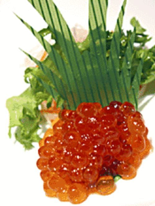 Caviar of the salmon variety