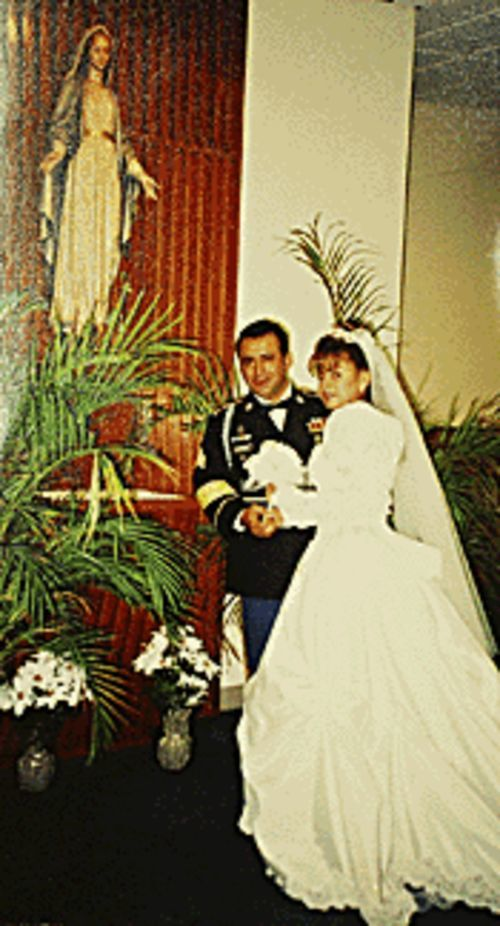 Frank and Patricia on their wedding day.
