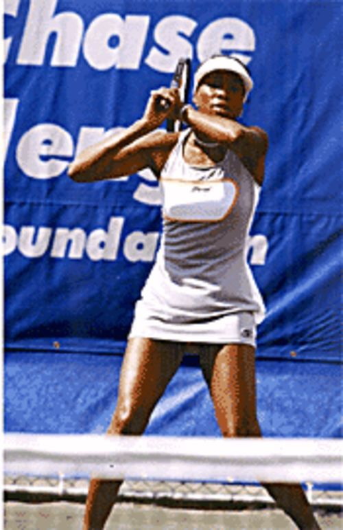 Venus Williams hits a mean serve and  makes a mean centerpiece.