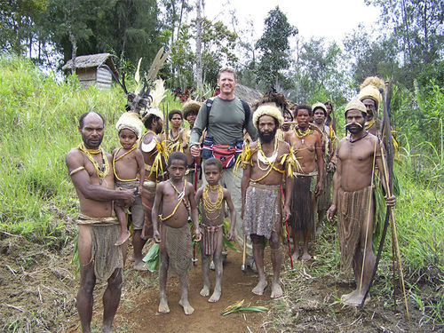 Oyer, in September 2007 in Papua, New Guinea, on a flag expedition with the Explorers Club.