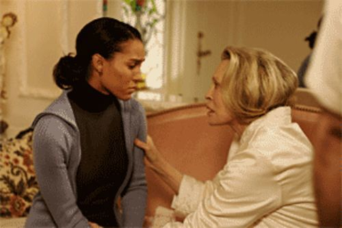 Khandi Alexander (left) and Faye Dunaway in Rain: Life on the white side