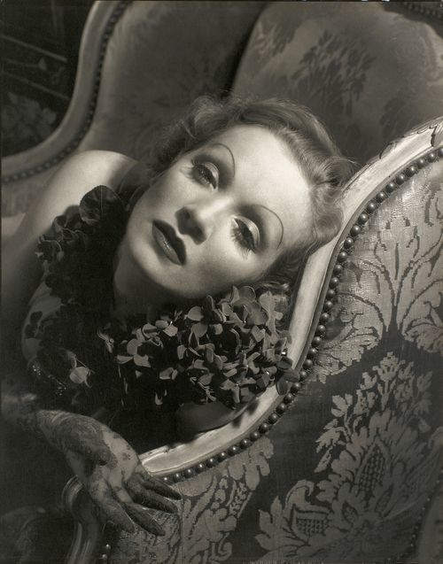 Steichen's striking 1932 shot of Marlene Dietrich.