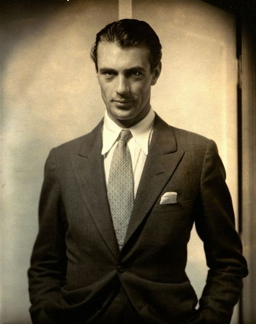 Steichen's shot of a dressy Gary Cooper from 1930 shows the movie star at age 29.