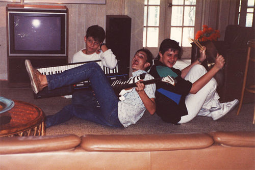 "A young Scott on the keyboard with pals. ""We're very disappointed that Scott has had nothing to do with his family,"" Uncle Jeremy says."