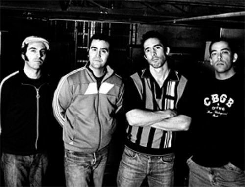 Barrio boys: Graupera (left), Lopez, MacKinnon, and Santos