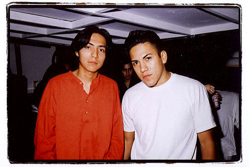 Efrain Bello (left) and his brother Bogart in happier times.