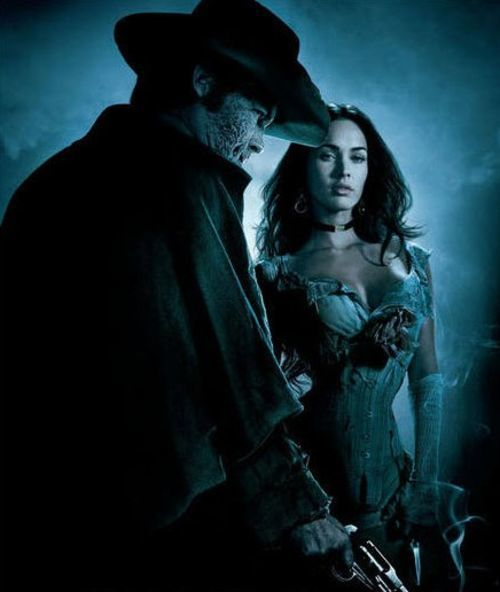 Josh Brolin and Megan Fox in the Wild (Wild) West.