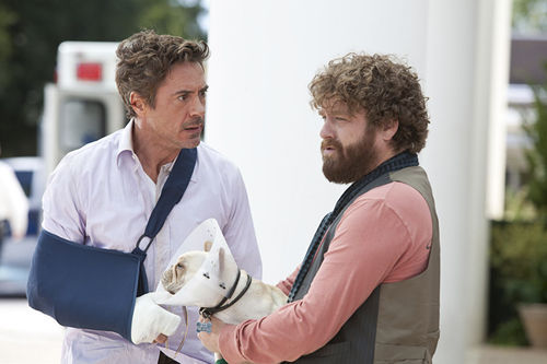 Downey and  Galifianakis: Let the slapstick begin.