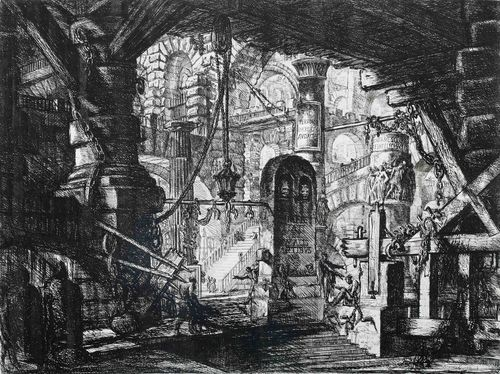 """The Pier with Chains"" by Giovanni Battista Piranesi."