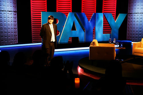 Bayly on the set of his late-night show.