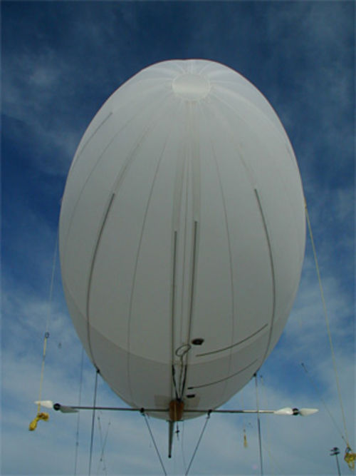 Full-frontal of a GlobeTel airship prototype during a December 2006 demonstration
