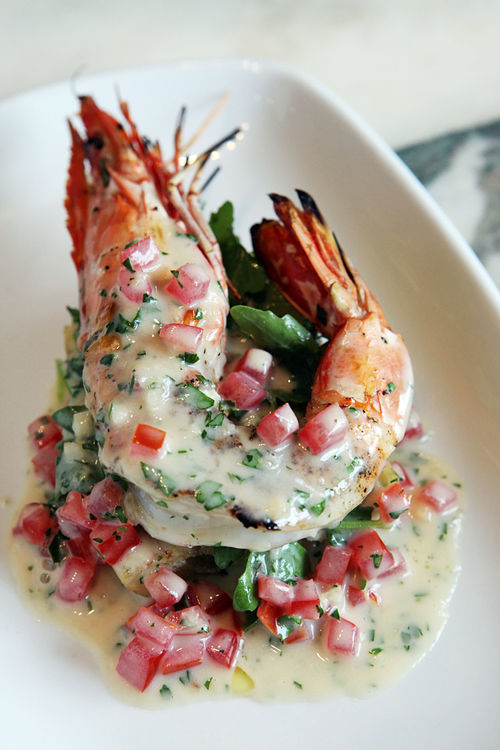 Chef Clay Conley's shrimp scampi is something special.