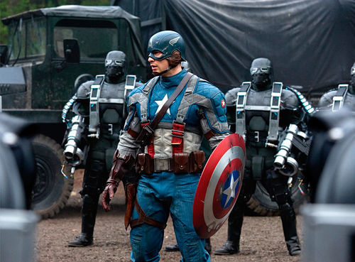 "Chris Evans is all ""stars and stripes forever!"""