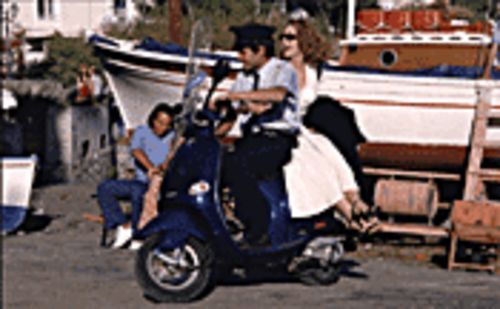 Just a Vespa ride to paradise