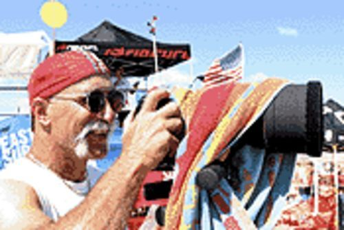 Surf photographer Bill Davis drops in on the Jupiter Noseriders meeting.