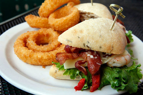Sandwiches like the Key West club are all over-the-top.