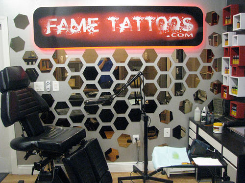 This high-end, home-based tattoo studio is attached to a garage in Hialeah Gardens.