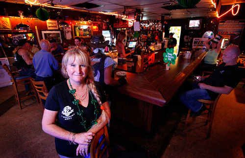 Lisa Carter's bar has been a biker's haven since 1961.