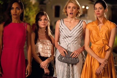 Megalyn Echikunwoke as Rose, Carrie MacLemore as Heather, Greta Gerwig as Violet and Analeigh Tipton as Lily in Damsels in Distress.