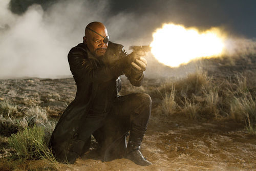 Action, Jackson: Taking aim at the villains.