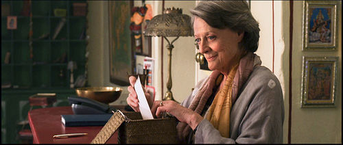 Maggie Smith as Muriel in The Best Exotic Marigold Hotel.