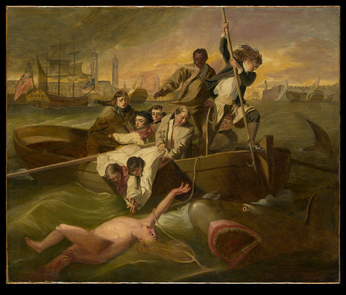 A copy of Copley's painting Watson and the Shark is among the famous offerings.