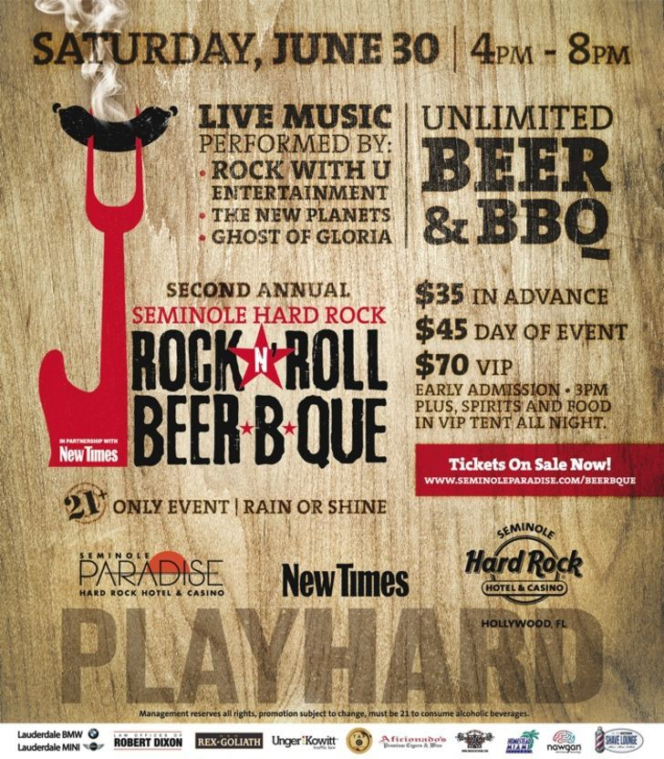 Seminole Hard Rock Rock N Roll Beer B Que
