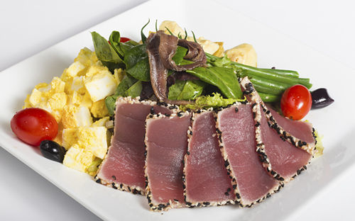 Ahi tuna spinach Niçoise salad. View a slide show of American Social Bar & Restaurant.