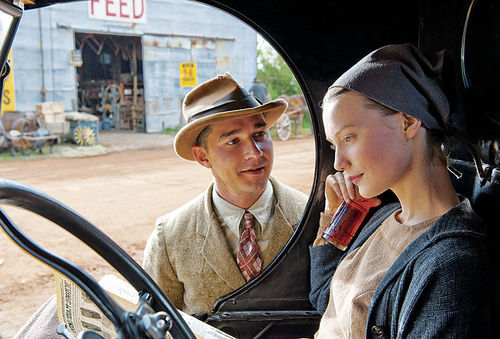 Shia LaBeouf as Jack puts the moves on Mia Wasikowska as Bertha.