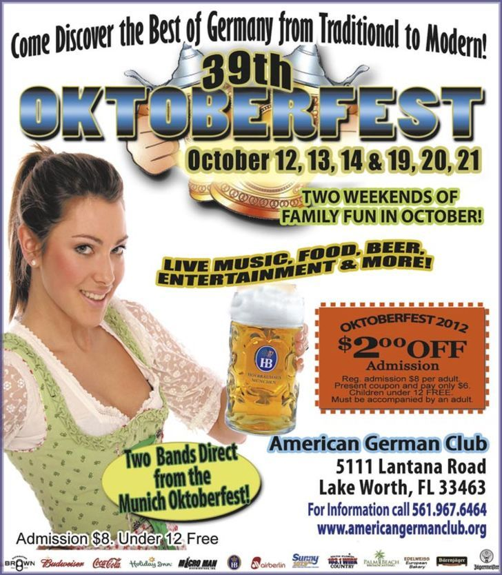 36th Oktoberfest Lantana American German Club