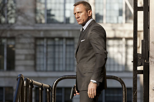 Daniel Craig stars as James Bond in Skyfall.