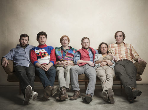 Dr. Dog, dressed to kill in their grandpas' clothes.