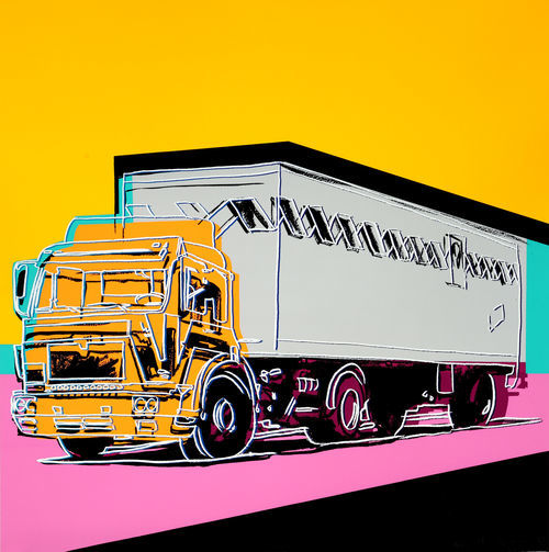 Warhol's Truck, from 1985: Telltale signs of his signature style.