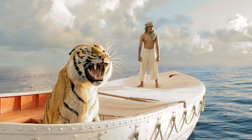 Pi and his dad's giant tiger, Richard Parker: The particulars are unimportant. Rhythm & Hues