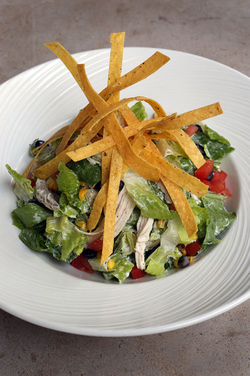 This chopped and tossed chicken salad gives salads a bad rap.